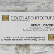 Deker Architecture-business-card-logo-design