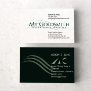 My Goldsmith Business Cards