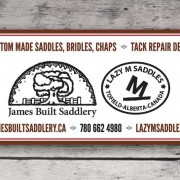 LazyM Saddle - James Build Saddlery front sign